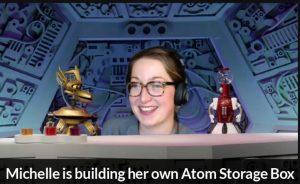 Michelle is building her own Atom Storage Box