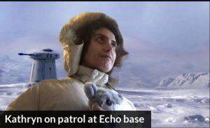 Kathryn on patrol at Echo base