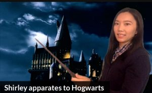 Shirley apparates to Hogwarts